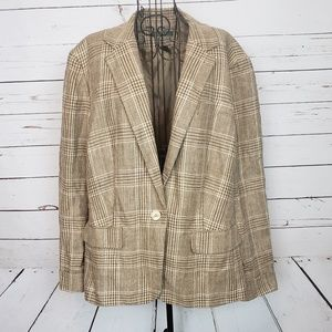 Ralph Lauren Glen Plaid Linen Blazer